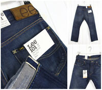 New LEE 101Z THE ORIGINAL ZIP FLY JEANS SELVEDGE DENIM STRAIGHT LEG W33 L32
