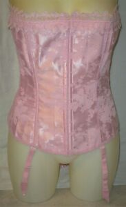 New Never Worn Pink on Pink Floral Trim and Lace Corset Size 40, Plus Size