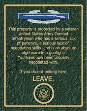 SN 011     Combat Infantryman warning sign