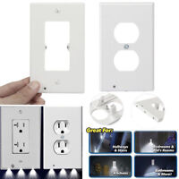 LED Night Light Wall Outlet Cover Plate Socket Case Home Bedroom Lamp Supplies