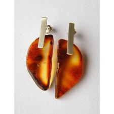 Ohrringe, Bernstein,Earrings amber, COGNAC, Silber 925, UNIKAT