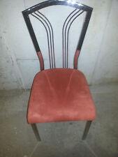 1  schöner stuhl ,vercromt mit terracotta farbigem alcantara bezogen