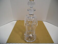 "Holmegaard Jacob Bang Danish Clear Pinched Glass 10 1/2"" Kluk Kluk Decanter, EUC"