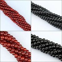 Black Onyx Red Agate Round Ball Spacer Loose Beads 2mm 3mm 4mm 6mm 8mm 10mm 12mm