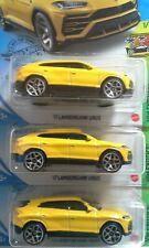 2020 Hot Wheels '17 Lamborghini Urus from HW Exotics series #1/10 X 3 car lot.