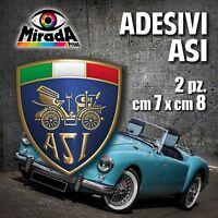 Adesivi / Stickers ASI auto ruote storiche old rally legend epoca OFFERTA! 7X8cm