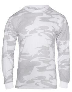 Long Sleeve White Snow Camo Shirt Mens Camouflage LS T-shirt Rothco 21820