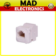 CAT6 RJ45 Back to Back Insert to suit Clipsal Wallplates/Wall Plates Clip-In