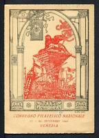 28811) ITALIA 1945 C.P. Convegno Filatelico Nazionale - Venezia 22.9.1945