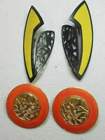 EDGAR BEREBI EARRINGS *RARE* VINTAGE 1980's