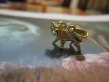 Gold 18 K- artisan product Aries zodiac pendant made Yellow