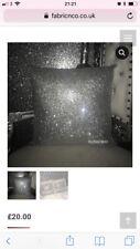 Full Glitter Cushion Crushed Velvet Back