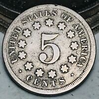 1869 Shield Nickel 5 Cents 5C Ungraded Civil War Era Good Details US Coin CC6192