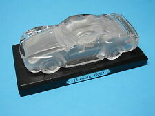 PORSCHE 959 GLASS CRYSTAL CAR MODEL AUTOMOBILE PAPERWEIGHT & STAND