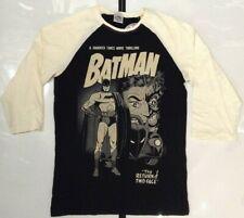 DC Comics Batman Men's Baseball T-shirt Black XL
