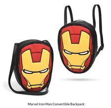 Avengers Iron Man Backpack Marvel Bag Licensed Merchandise Helmet Convertible
