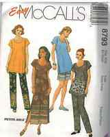8793 UNCUT Vintage McCalls SEWING Pattern Tunic Pull on Pants Shorts OOP SEW NEW