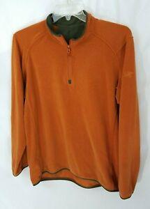 Arcteryx 1/4 Zip Orange Lightweight Pullover Fleece Top Mens XL