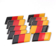 10x Aluminum Germany German Rear Emblem Badge Sticker for MK7 MK6 Golf Audi