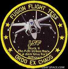 USAF 461st FLIGHT TEST SQ -FUSION FLIGHT TEST- EDWARDS AFB ORIGINAL PATCH