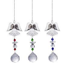 Us Set 3 Angel Suncatcher Ornament Crystal Glass Pendant Handmade Wedding Gifts