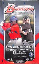 2015 Bowman Baseball Jumbo Sealed Hobby Box
