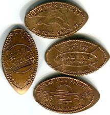 Ocean Walk Shoppes Daytona Beach Complete Set Of Four All Copper Pressed Pennies