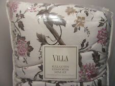 VILLA BY NOBLE EXCELLENCE GIANNA FULL/QUEEN COMFORTER MINI SET