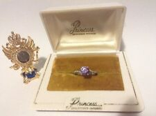 FOR A PRINCESS 1cts NATURAL COLOUR CHANGE ALEXANDRITE DIAMOND RING, SIZE 7