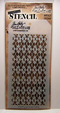 Argyle Design Layering Stencil - Stampers Anonymous Tim Holtz Collection