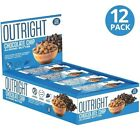 MTS Nutrition OUTRIGHT PROTEIN BAR, Box of 12 Bars, CHOCOLATE CHIP ALMOND BUTTER