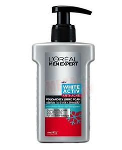 LOREAL MEN EXPERT WHITE ACTIVE ANTI ACNE VOLCANO ICY LIQUID SERUM FOAM 150ml