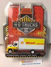 Greenlight * SHELL * International DuraStar Box Truck * Yellow/White * HD Trucks