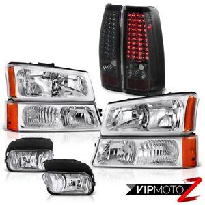 03-07 Silverado DuraMax 6.6L Bumper Headlights LED Bulbs Tail Light Driving Fog