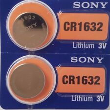 2 SONY CR1632 BATTERY BATTERIES 1632 DL1632 KRC1632 CELL BUTTON 3V expire 2026