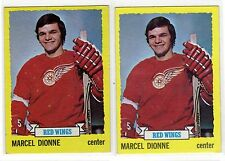 1X MARCEL DIONNE 1973 1974 Topps #17 EXMT Red Wings 73 74 Lots Available