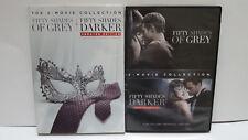 ** Fifty Shades of Grey + Fifty Shades Darker (DVD) - Jamie Dornan - Ships Free!