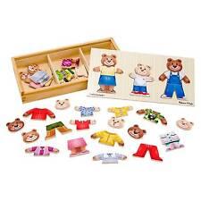 Wooden Bear Dress up Kids Games Toys Post Mnd3770 Melissa & Doug