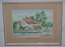 """BEN BERRY Signed Watercolour Painting """"The Three Horseshoes - Winkwell"""" [PL2209]"""