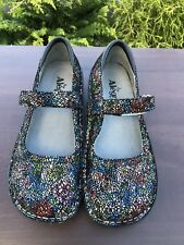 Alegria Professional Cathedral Nurses/Doctor/Chef Shoes Leather Clog Size 38