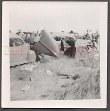 Vintage Car Photo Unusual 1950 Dodge v 1941 Ford Automobile Wreck 662428