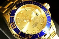Invicta Men's Watch 14124IN Pro Diver Gold Dial Gold Plated Stainless Steel Band