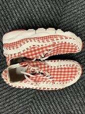 2010 Nike Footscape woven chukka Red Gingham Sz 11