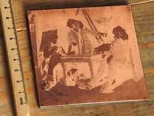 Galvano Kupferklischee Druckplatte Druckerei Bleisatz letterpress printing plate