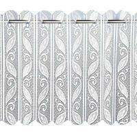 GEOMETRIC LEAVES WHITE LACE VERTICAL PLEATED FOLDING NET WINDOW BLINDS SLOT TOP
