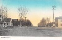 Clarkfield MN Wide Dirt Residential Street~Of A Spring Afternoon~1909 Postcard