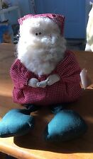 "12"" One-of-a-Kind Hand Made Fabric Santa Claus By Barbara's Of Bethlehem Pa New!"