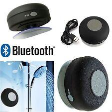 Étanche Haut-Parleur Bluetooth Sans Fil FM Radio TF Ventouse Voiture/Salle de Bain Douche