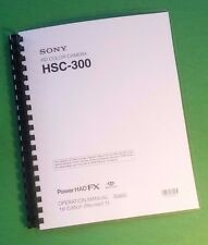 LASER PRINTED Sony HADFX HSC-300 Video Camera 64 Page Owners Manual Guide