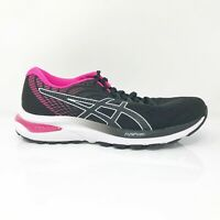 Asics Womens Gel Cumulus 22 1012A741 Black Pink Running Shoes Lace Up Size 8.5